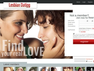 Lesbian Dating Homepage Image